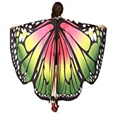 Vêtements LILICAT Womens Fashion Butterfly Wings Châle Foulards Womens Elfes Poncho Vêtements Accessoires (Green)