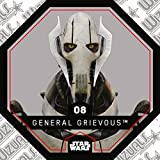 Rewe STAR WARS Cosmic Shells Normal 08 General Grievous + WIZUALS STICKER