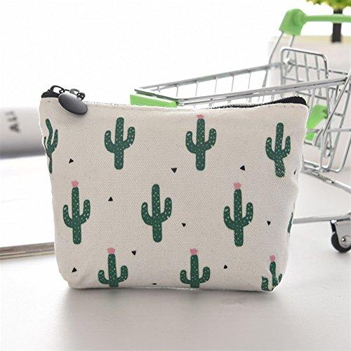 Cosanter Leinwand Stifte Tasche Kaktus Muster Briefpapier Pencil Case Bleistift Hülle Makeup Tasche