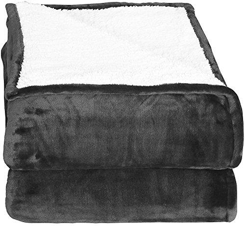 Kuscheldecken (200 x 150 cm) -xtra weiches Bürsten-Gewebe, super warme Decke, Leichte gemütliche Couchdecke, Pflegeleicht - von Utopia Bedding (Grau)