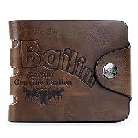 Men's Trifold Transverse Leather Wallet