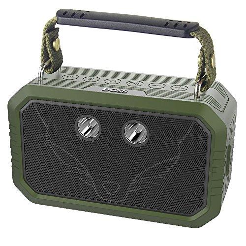 DOSS Traveler Bluetooth Lautsprecher mit 20W Stereo Sound und Dual-Treiber besserem Bass IPX6 Wasserdicht mit Mikrofon 12 St Spielzeit für iPad, Tablet und andere Geräte 【Grün】