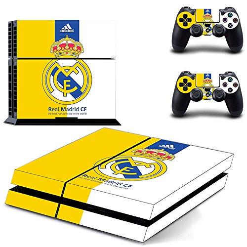 Playstation 4 + 2 Controller Aufkleber Schutzfolie Set - Real Madrid (4) /PS4 (Madrid Ps4 Real)