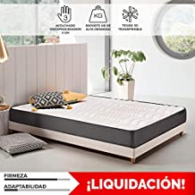 Komfortland Colchon visco Memory Dream 170 con 4 cm Viscosensitive, Altura 17cm, Medida 90x200