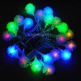 JnDee ™ Multi Farben RGBY Blüten Ball batteriebetrieben LED Lichterkette 4m LED-– On/Off/Flash Funktionen, perfekt für Weihnachten Hochzeit und Parteien