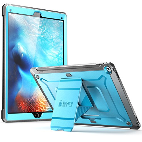 iPad Pro Case, SUPCASE [Heavy Duty] Apple iPad Pro 12.9 Inch 2015 [Unicorn Beetle PRO Series] Full-body Rugged Hybrid Protective Case Without Built-in Screen Protector & Dual Layer Design (Blue/Black) Case Protective Film