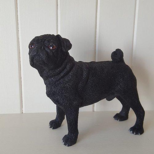 Noir déco chien carlin Figurine de décoration