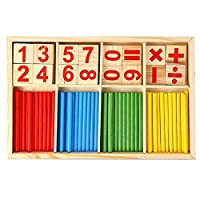 GreceMonday Children Wooden Numbers Learning Stick Mathematics Early Learning Counting Educational Toys Children Kids Gifts