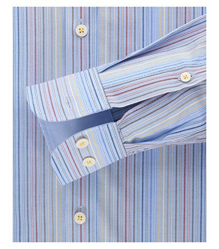 Casa Moda - Comfort Fit - Herren Gestreiftes Dobby Hemd mit Button-Down Kragen (472644900) Beige (600)