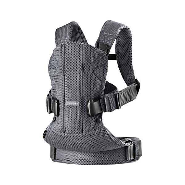 BABYBJÖRN Baby Carrier One Air, 3D Mesh, Anthracite, 2018 Edition Baby Bjorn The latest version (2018) with soft and breathable mesh that dries quickly Ergonomic baby carrier with excellent support 4 carrying positions: facing in (two height positions), facing out or on your back 3