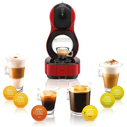 Krups Dolce Gusto Machine à Capsule Nescafe Lumio, automatique, rouge