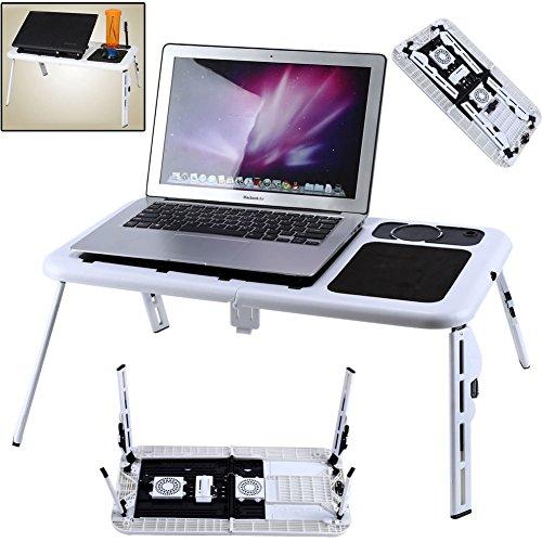 Laptoptisch Computertisch Höhenverstellbar Faltbar Ständer Betttablett Lüfter