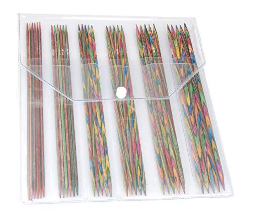 KnitPro 20631 Nadelspiel Set Symfonie Holz 20 cm - Seide Stricken Tasche