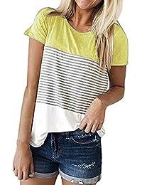 Damark(TM) Ropa Camisetas Mujer, Camisas Mujer Verano Elegantes Casual Tallas Grandes Deporte