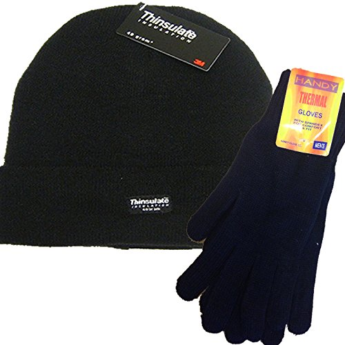 mens-plain-black-thermal-thinsulate-beanie-hat-and-handy-thermal-gloves-set
