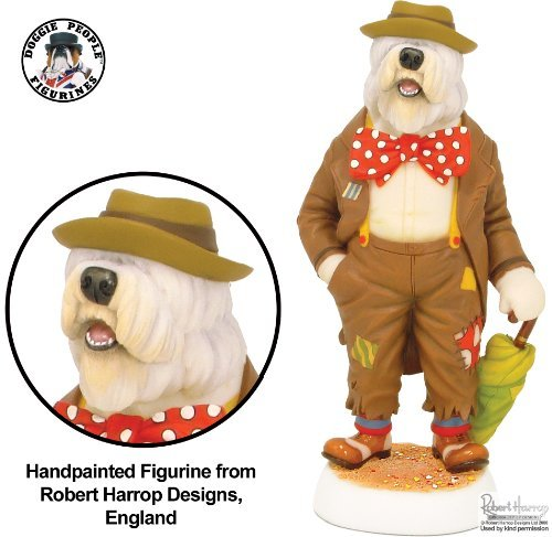 Old English Sheepdog (Bobtail) - Hobo Clown (Harrop's Circus) - Doggie People Figurine - Robert Harrop Designs by Doggie People (Hobo-figur)