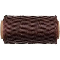 cnbtr 200metros 1mm 150d soporte de hilo de cuero encerado cordón costura Craft café Color