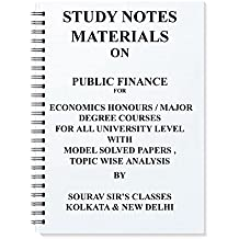 Amazon sourav sirs classes books study notes materials on public finance for economics honours major degree courses for all university fandeluxe Image collections