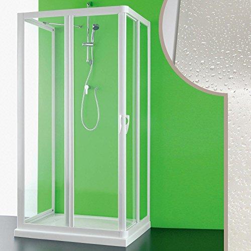Cabine douche 3 côtés 70x100x70 CM en acrylique mod. Venere avec ouverture ce