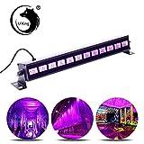 U`King UV LED Lichteffekt Schwarzlicht mit 12x 3W UV LED Bar Beleuchtung für Party Bar Karneval Halloween und Weihnachten