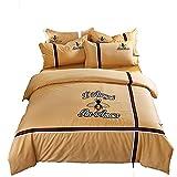 RXRENXIA Housse De Couette De Luxe Super Extra Grand Superking avec Taie d'oreiller Lit De Couette Réversible Cotton200 * 220Cm
