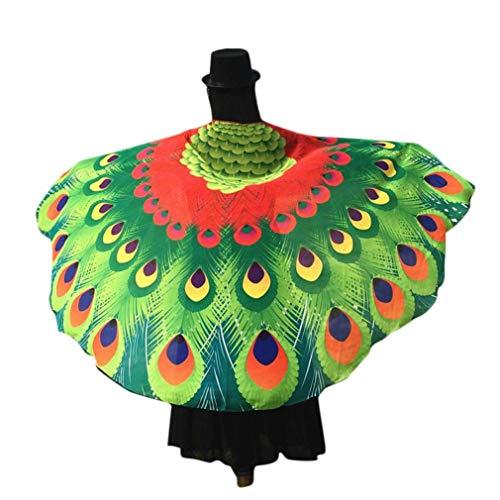 (TIFIY Heißer Halloween Strand Schal Strandtuch Schmetterlingsflügel Muster Damen Party Cosplay Kostüm Zubehör Mantel Cape Top)