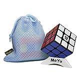 FunnyGoo MoYu WeiLong GTS 2 Weilong GTS2 GTS Plus la versión Mejorada Magic Speed Cube, con una Bolsa de Cubo y un Soporte de Cubo (Negro)