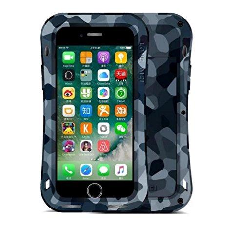 """IPhone 7 Plus 5,5 """"Strap Case, i-Nings Heavy Duty Kleine Taille wasserdicht Extrem Schock / Schnee / Schmutz Proof Aluminium Cover mit Gorilla Glas Bildschirm für Apple iPhone 7 Plus 5,5"""" (Jungle Camo City Camouflage"""