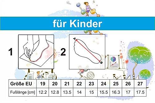 xKids Kinder Hausschuhe Milan Gr. 19 bis 27 EU Kornblumen/Schleifchen