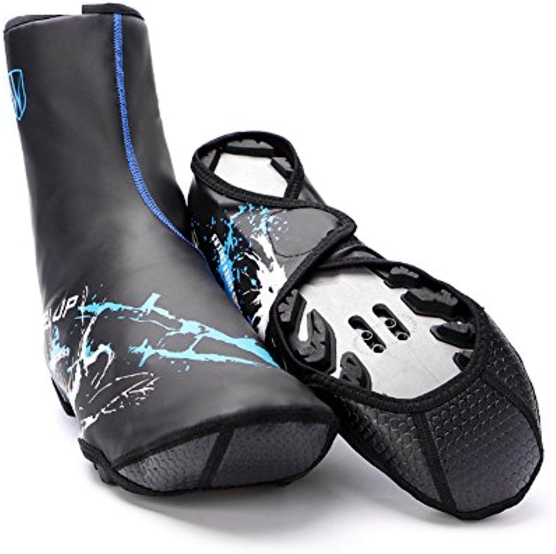 Cubierta de Zapatos Impermeables Antideslizantes Cubierta de Zapatos Ajustables con para Ciclismo al Aire Libre  -