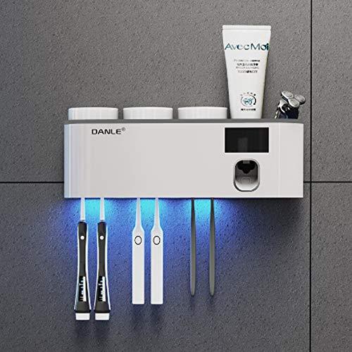Cepillo de dientes titular de cepillo de dientes de rack ultravioleta esterilización caja de almacenamiento...