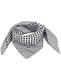 b421f99292d sourcing map Polyester Noir à pois et foulard bandana pour femme Blanc