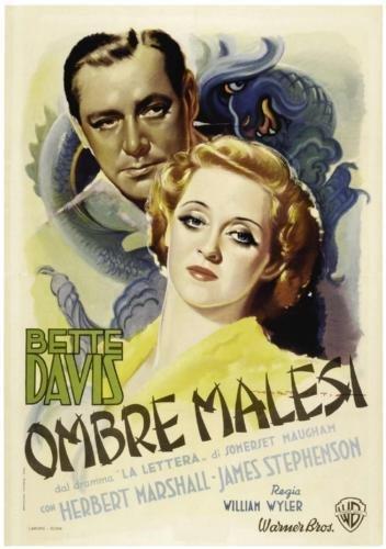 Ombre Malesi Bette Davis-Movie-Poster 11inx17in 28° x ° 43° cm) -