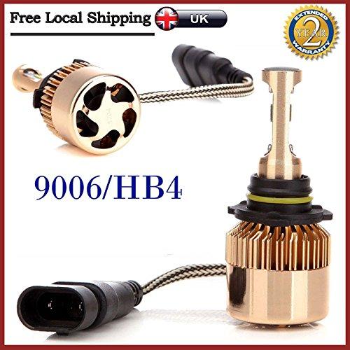 Preisvergleich Produktbild Paar 9006 HB4 9012 LED DRL Auto-Scheinwerfer Conversion Kit Leuchtmittel 160 W 16000lm Super Hell,  mit Safe Beam Muster