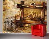 Bilderdepot24 Papier Peint intissé - Histoires de Marins - 200x150 cm - pâte Inclus - Vente directe Fabricant!...