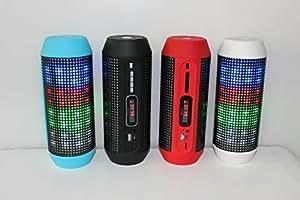PANMARI Bluetooth mini haut-parleur portable Bluetooth lampe de poche LED haut-parleur feux de rythme de cadeaux de carte d'appel mains libres