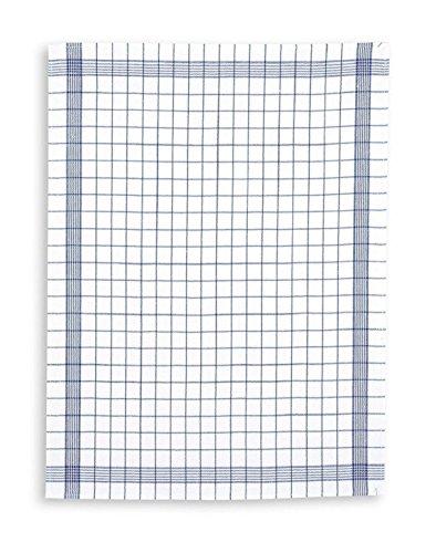 Triolino 10-er Set Geschirrtücher Kochfest Küchentücher 100% Baumwolle Farbe Blau Grösse 50 cm x 70 cm
