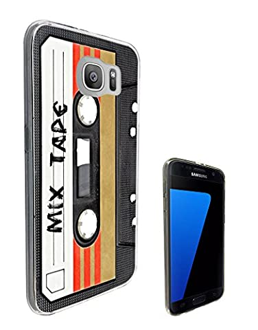 1082 - Cool Fun Mix Tape Cassette Player Retro Music Dance Hip Hop RnB Boom Box Design Samsung Galaxy S6 Fashion Trend Protecteur Coque Gel Rubber Silicone protection Case Coque