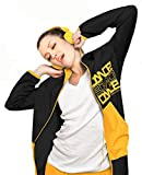 Urban Dance Dames Long Zip Hoodie UD009, couleur:black, Taille:XS