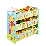 Familie24 Holz Spielzeugregal Auswahl Frozen Cars Minnie Maus Mickey Maus Winnie Pooh Kinderregal Organizer Regal (Winnie Pooh)