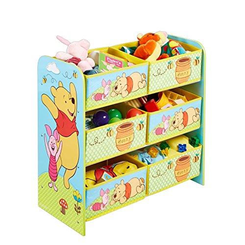 Holz Spielzeugregal AUSWAHL Frozen Cars Minnie Maus Mickey Maus Winnie Pooh Kinderregal Organizer Regal (Winnie Pooh)