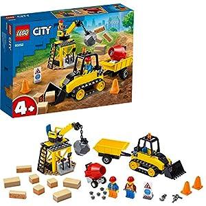 LEGO CityGreatVehicles BulldozerdaCantiere, Set da Costruzione con Mattoni e Gru per Bambini dai 4 Anni in su, 60252 5702016617863 LEGO