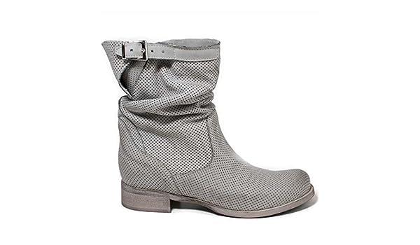 Stivali Biker Boots Traforati Estivi 'BikM' Grigio