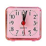 Platz Klein Bett Kompakt Uhr HARRYSTORE Niedlich tragbar Reise Quarz Piep Wecker (Rot)