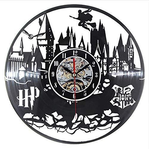 Syhua Horloge Murale Design Moderne Vinyle Record Clocks Quartz Noir Creux 3D Décoratif Classique CD Mur H Décor À La Maison