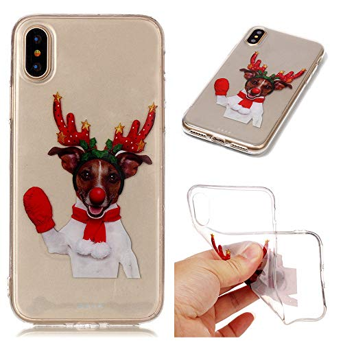 QINPIN Weihnachtshülle Weiche, schlanke, Ultra Telefon-Schutzhülle für das iPhone XS 5,8 Zoll/XS...