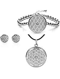 silvity Damen Blume des Lebens Set 3 Teilig mit Crystals from Swarovski® Kristalle 959001-P-20