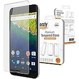 Orzly® - Protector de Pantalla de Prima de Cristal Templado (0,24mm) para LG NEXUS 5X SmartPhone (5,2 Pulgadas Version - 2015 Modelo Teléfono Móvil) - Transparent