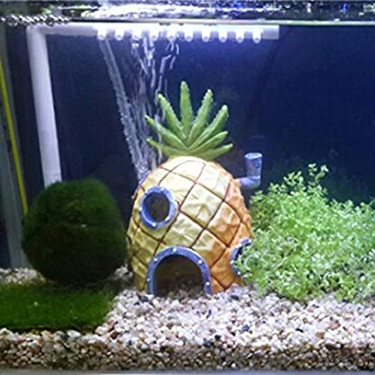 Oyedens Aquarium Ornaments Pineapple House for Fish Tank (Pineapple) 2
