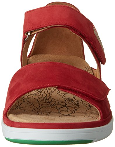 Ganter Gina-g, Sandales Bout Ouvert Femme Rot (red/creme)